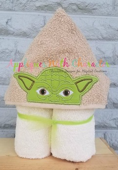 Yoda Peeker Star Battles Applique Design