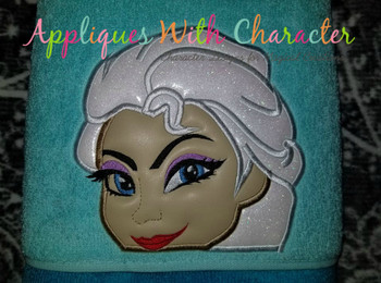 Frozen Elsa Peeker Applique Design