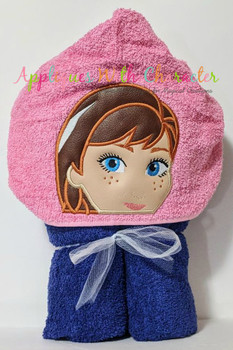 Frozen Anna Peeker Applique Design