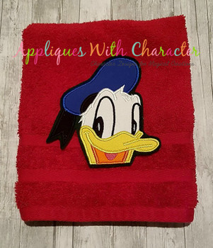 Don Duck Peeker Applique Design