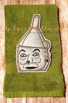 Wizard of Ozz Tin Man Peeker Applique Design