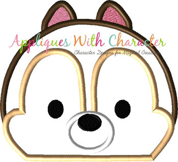 Chip Tsum Peeker Applique Design