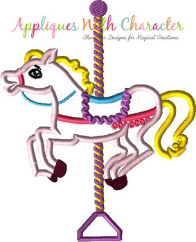 Mary Poppers Carousel Horse Applique Design