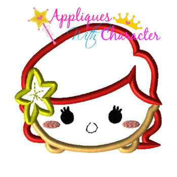 Mermaid Tsum Tsum Applique Design