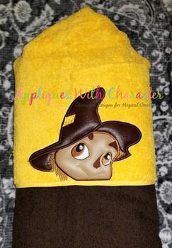 Wizard of Ozz Scarecrow Kids Peeker Applique Design