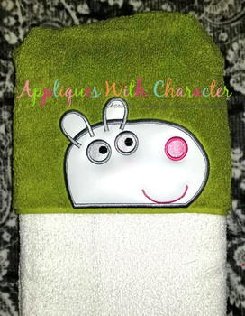 Pepper Pig Suzie Sheep Peeker Applique Design
