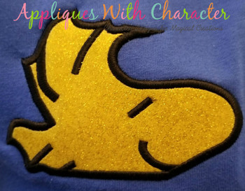 Peanuts Bird Peeker Applique Design