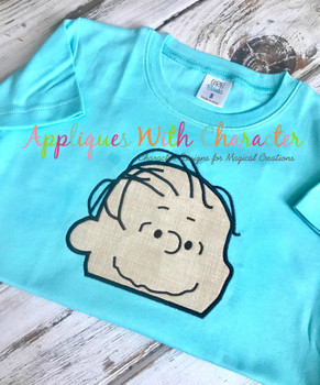 Peanuts Linos Peeker Applique Design