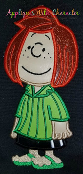 Peanuts Peppermint Patty Applique Design