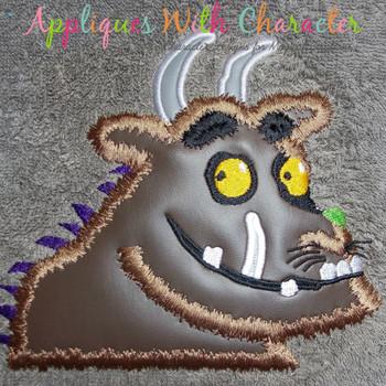 Gruff Monster Applique Design