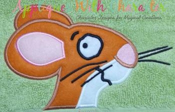 Gruff Mouse  Applique Design