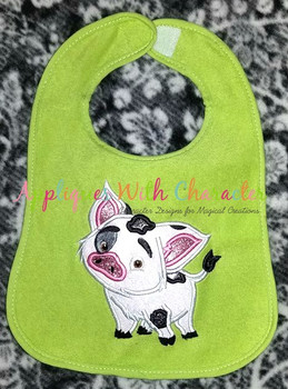 Island Girl Pua Pig Applique Design