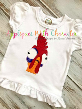 Island Girl Hei Hei Peeker Applique Design