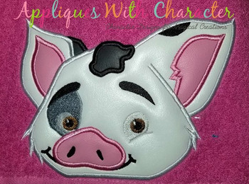 Island Girl Pua Pig Peeker Applique Design