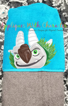 Troll Finders Troll Aargh Peeker Applique Design