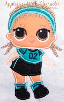 Kicks Doll Applique Design
