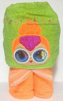 Neon Doll Peeker Applique Design