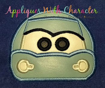 Cars Salley Race Car Peeker Applique Design