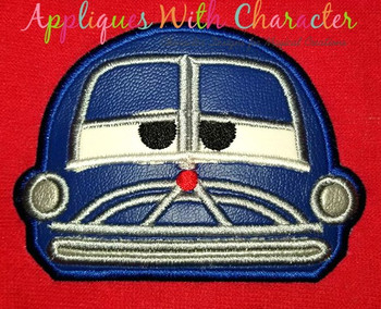 Cars Doctor Car Peeker Applique Design
