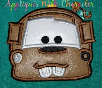 Cars Mater Peeker Applique Design