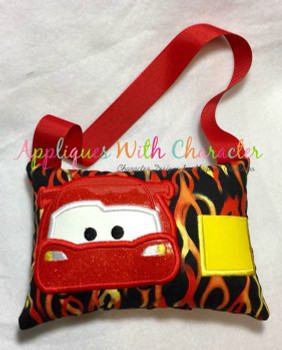 Cars Lighty Race Car Peeker Applique Design
