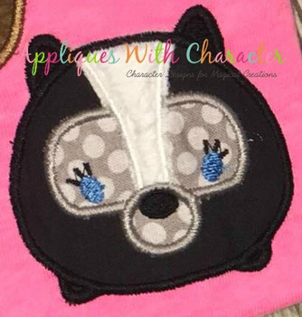 Bambie Flower Skunk Tsum Tsum Applique Design