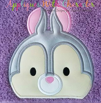 Bambie Thumper Peeker Applique Design