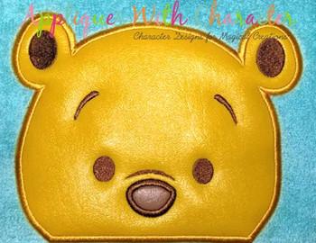 Honey Bear Peeking Applique Design