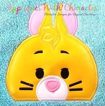 Honey Bear Rabbit Peeker Applique Design