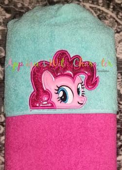 MLP Pinky Pony Peeker Applique Design