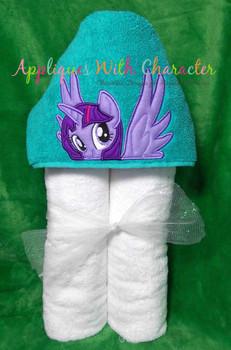 MLP Twilight Unicorn Pony Peeker Applique Design