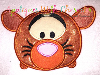 Honey Bear Tiger Tsum Applique Design