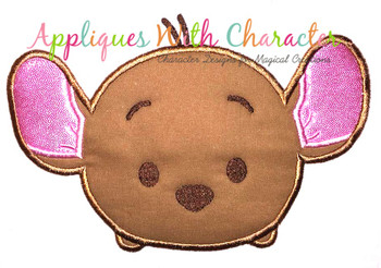 Honey Bear Kangaroo Tsum Applique Design