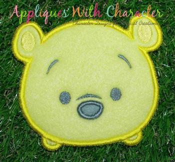 Honey Bear Tsum Applique Design