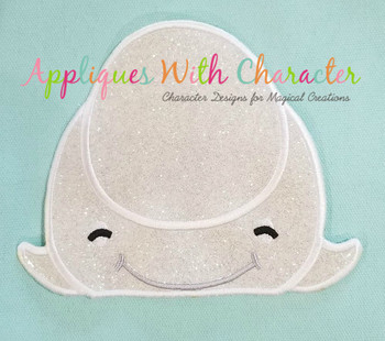 Finding Dorie Bailey Beluga Whale Peeker Applique Design