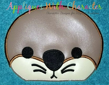 Finding Dorie Baby Otter Peeker Applique Design