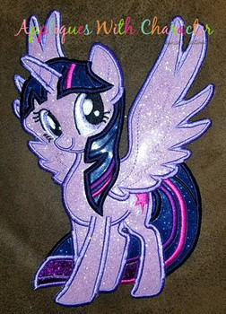MLP Twilight Unicorn Pony Applique Design