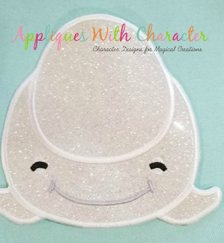 Finding Dorie Bailey Beluga Whale Tsum Tsum Applique Design