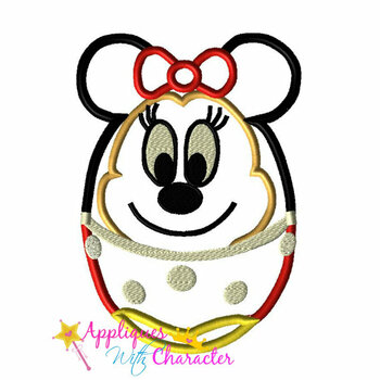 Miss Mouse Easter Egg Applique Design