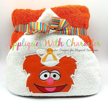 Muppet Baby Fozzie Peeker Applique Design