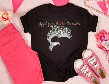 Ocean Dolphin Applique Design