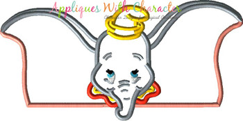 Dumbo Peeker Applique Design