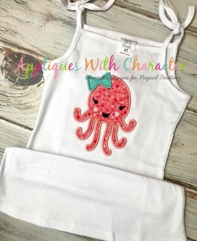 Girl Jellyfish Applique Design