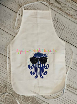 Boy Jellyfish with Sunglasses Applique Design