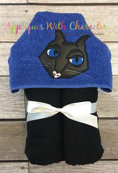 Cori Black Cat Peeker Applique Design