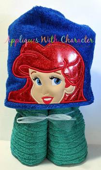Mermaid Princess Peeker Applique Design