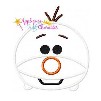 Frozen Snowman Olaf  Tsum Tsum Applique Design