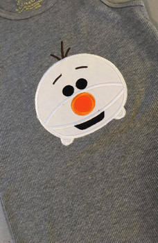 Frozen Snowman Olaf  Tsum Tsum Applique Design