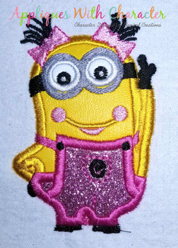 Minione Girl Applique Design