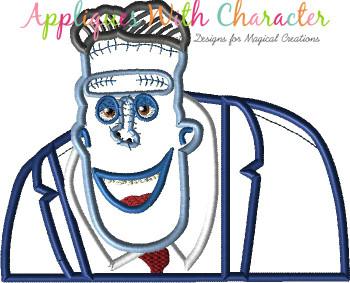 Transylvania Frankenstein Bust Applique Design